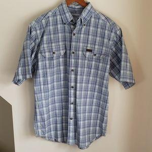 Carhartt Men's Plaid Short Sleeve Shirt - SZ MED